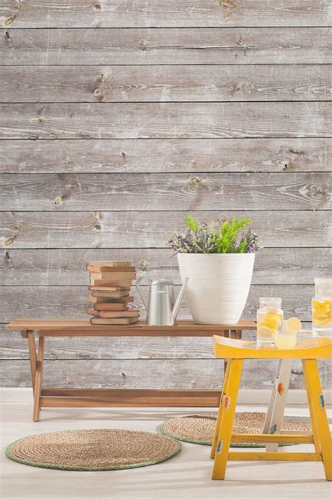 home decor wallpaper coastal weathered wood wall mural home and interiors