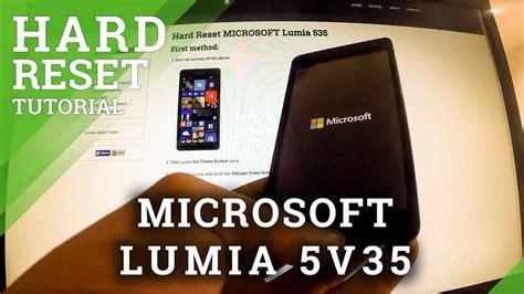 microsoft lumia 535 how to hard reset my phone hard reset microsoft lumia 535 factory reset tutorial in