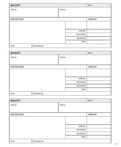 best cheap receipt printer with templates blank receipt to print kinoroom club