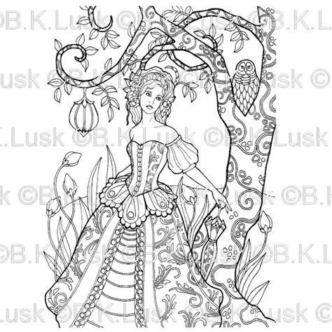 elaborate coloring pages for adults b k lusk digital download digist clipart art
