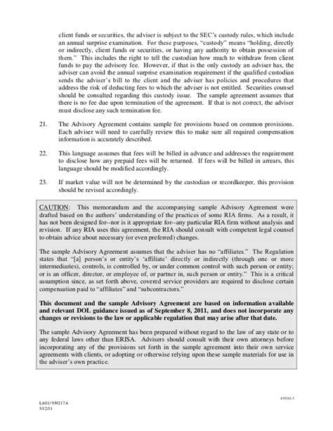 erisa section 406 ria service agreement template 408 b 2
