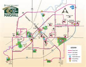 map marshall pedestrian bikeway