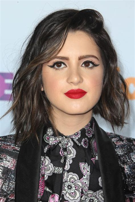 did laura marano really cut her hair laura marano wavy dark brown bob peek a boo highlights