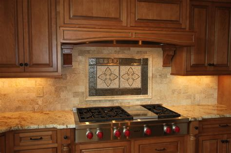 Kitchen Stone Backsplash by Custom Stone Backsplash Traditional Kitchen Other