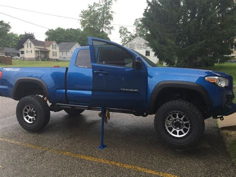toyota in rock 2016 tacoma no drill bolt on rock sliders mobtown offroad