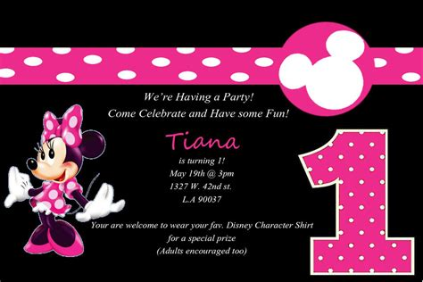 Minnie Mouse 1st Birthday Party Invitations Best Party Ideas Minnie Mouse Invitation Template