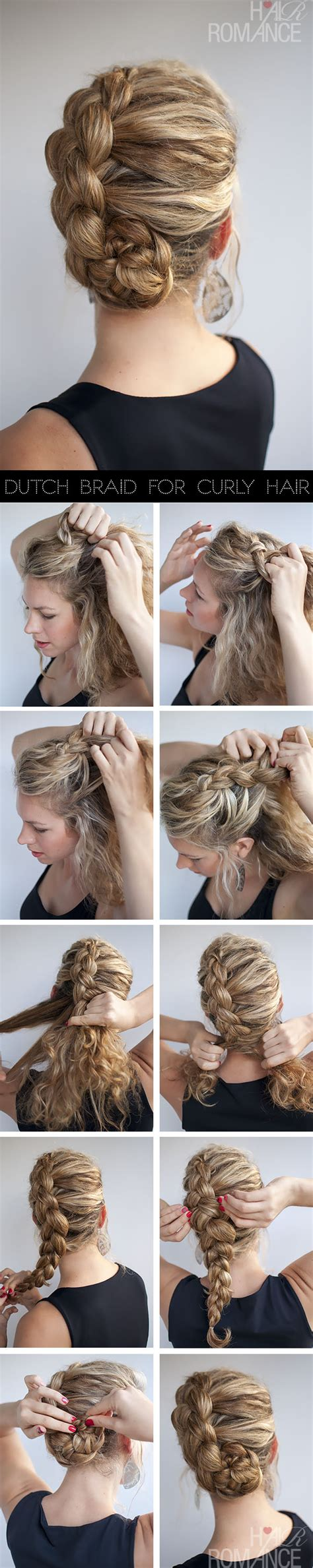hairstyles curly hair steps hairstyle for curly hair dutch braid tutorial hair romance