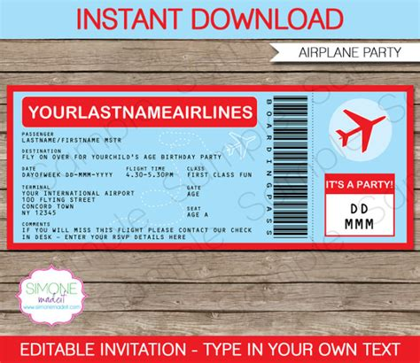 boarding pass invitation template 25 free psd format