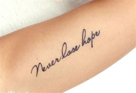 never lose hope tattoo never lose тату tatoo