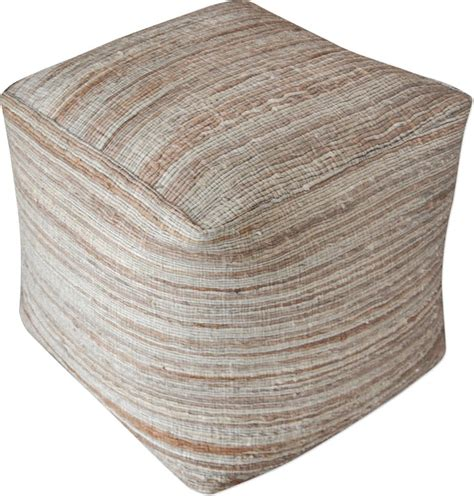 Puff Ottomans Oscar Interior Kualitas Premium uttermost accessories shiro beige pouf 23958 finesse furniture interiors edmonton alberta