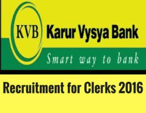 kvb bank karur vysya bank call letters for clerks