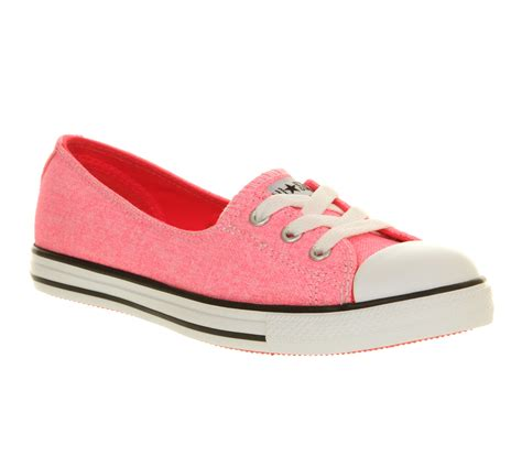womens converse lace faded neon pink exclusive