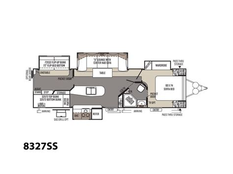 rockwood floor plans new 2016 forest river rockwood signature ultra lite 8327ss