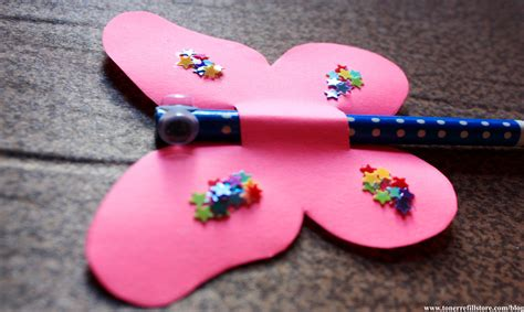 pencil topper crafts for summer crafts for butterfly pencil topper