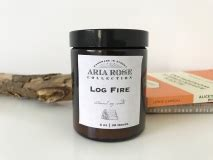 Scented Fireplace Logs by Log Scented Soy Candle 5 Oz