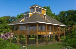 House Plans On Pilings Pedestal Piling Homes Cbi Kit Homes