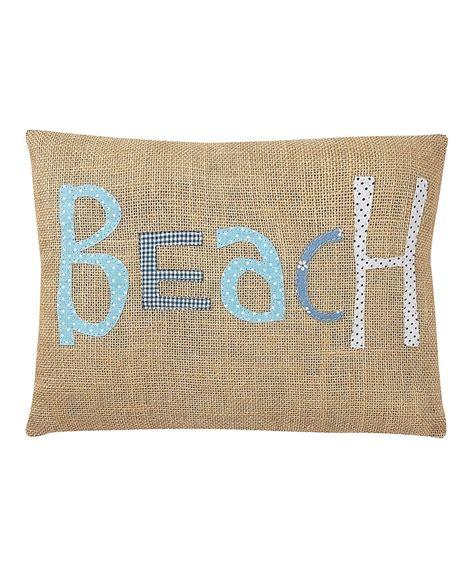 Beachy Decorative Pillows by Burlap Pillow