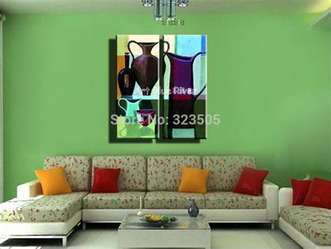 2 abstract modern wall canvas still