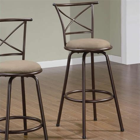 bar top chairs coaster 29 quot metal bar stool in brown 122030