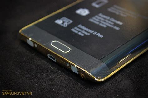 Harga Samsung S7 Edge Jet Black real pictures show the exclusive gold plated samsung