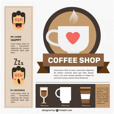 design elements of a coffee shop nice coffee shop with infographic elements vector free