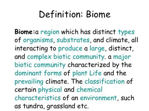 define biography characteristics biomes ecosystems