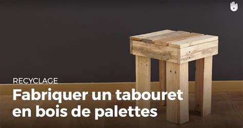Tabouret De Bar En Bois De Palette by Fabriquer Un Tabouret 4 Pieds En Bois De Palette