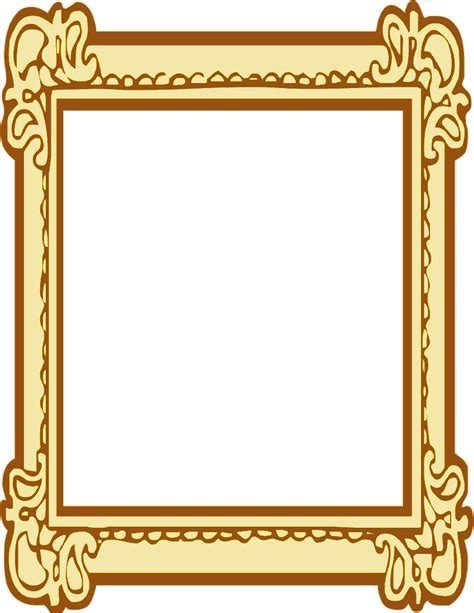 frame clipart ornate picture frame clipart clipartxtras