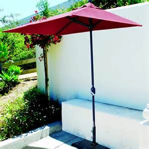 half patio umbrella 3 5 x 7 foot half wall umbrella model 772ab