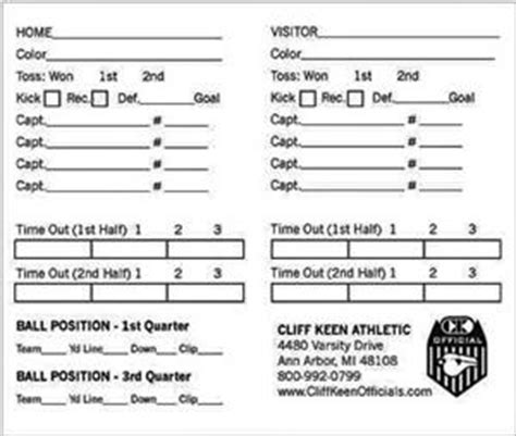 printable football referee card template cliff kenn football card football equipment and gear