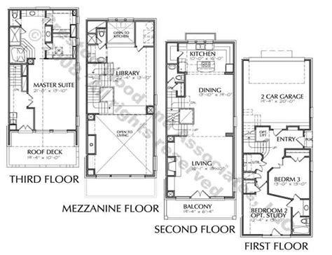 duplex row house floor plans duplex townhome plan c9287