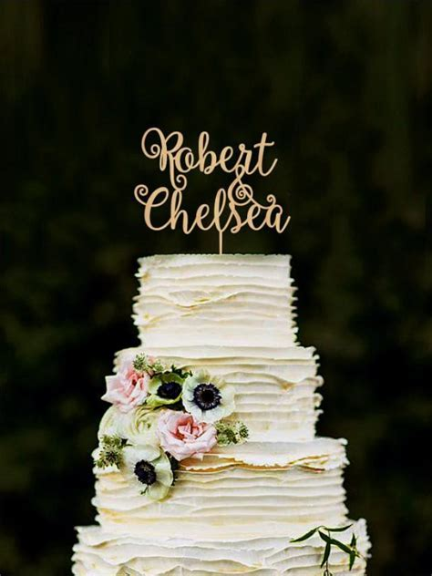 Custom Cake Topper, Wedding Cake Decorations, Personalized