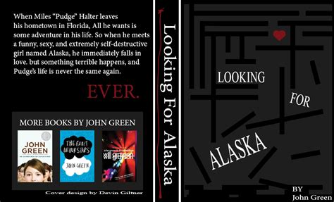 book report looking for alaska looking for alaska book cover design by monotonyart on