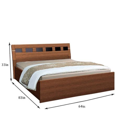 dimensions of a queen sized bed nilkamal reegan queen size bed with storage by nilkamal