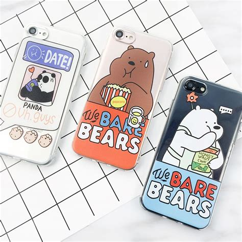 Best Squishy Iphone 7 Soft Motif Timbul Panda Rabbit Cat Cloud 353 best we bare bears images on we bare bears and network