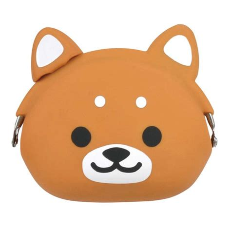 Animal Coin Pouch shiba puppy shaped mimi pochi animal friends silicone