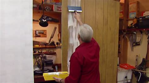 Mobile Home Interior Wall Paneling by How To Fill Grooves In Paneling Before Painting Today S