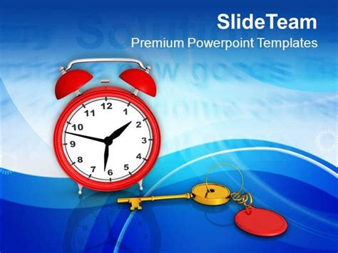 Solution Key Alarm Clock Time Management Powerpoint Time Management Ppt Templates Free