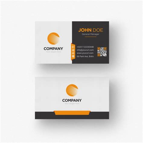 orange and black business card psd design techfameplus black and white business card with orange details psd file