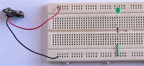 breadboard circuit for beginners tutorial 1 building a circuit on breadboard for beginners in electronics