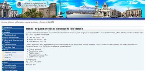 ufficio collocamento catania sull avviso relativo a nuove locazioni da parte comune