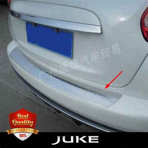Cover Bumper Bawah Jaring Nissan Juke high quality stainless steel rear bumper foot plate fit for nissan juke 2010 2015 auto back sill