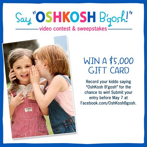 o kosh b gosh say oshkosh b gosh and win 50 giveaway to okbg