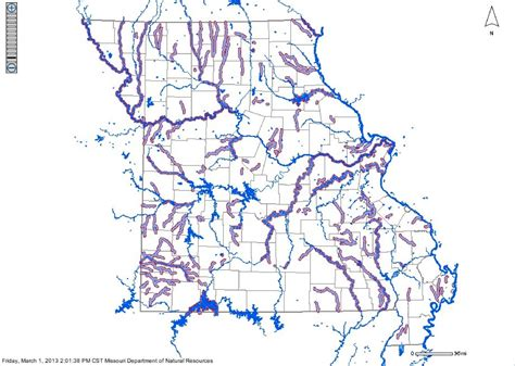missouri map with rivers map of impaired surface water in missouri 171 mogreenstats