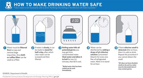 how to make drink water how to make water safe to drink