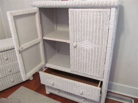 white wicker armoire wicker armoire for your home