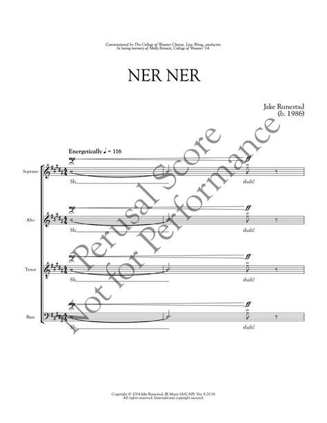 NER NER - Jake Runestad by Jake Runestad - Issuu