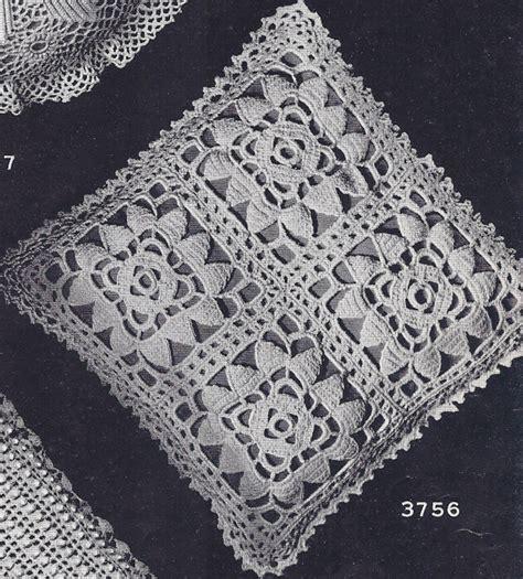 Vintage Crochet Pattern To Make Block Lace Flower vintage crochet pattern motif bedspread cluny lace ebay