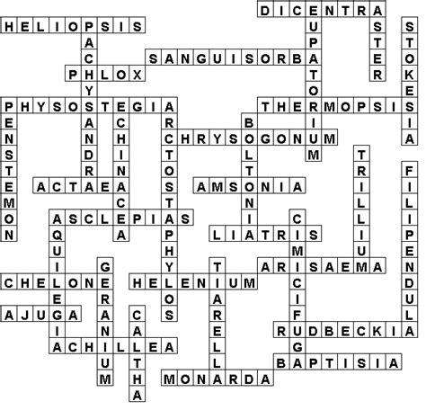 native perennials crossword solution