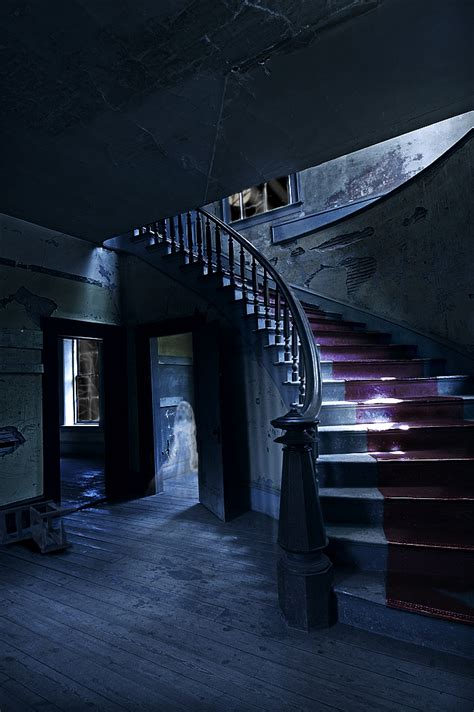 Spooky staircase by croonstreet on deviantart